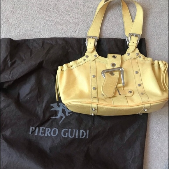 Piero Guidi Handbags - Piero Guidi yellow leather purse